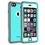 CellEver iPhone 6 Plus / 6s Plus Case Waterproof Shockproof IP68 Certified SandProof Snowproof Full Body Protective Cover Fits Apple iPhone 6 Plus (5.5') - KZ C-Ocean Blue