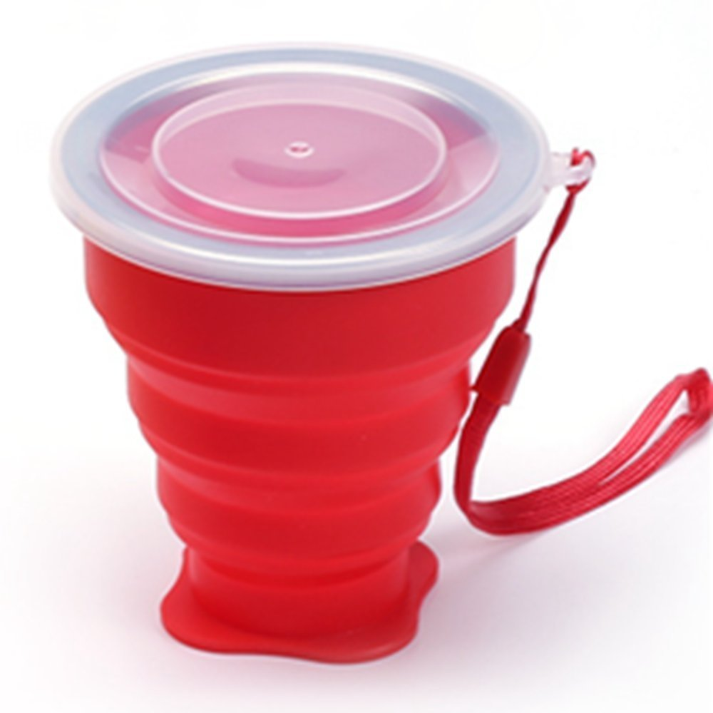 3ZFAMILY Retractable Collapsible Portable Silicone Outdoor Travel Drinking Cup for travelling, camping, hiking & commuting to work. Portable Silicone Retractable Telescopic Folding