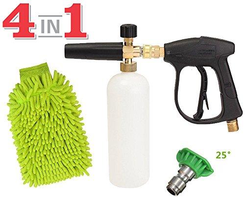 1L Adjustable Snow Foam Lance Washer Car Wash Gun Soap Pressure Washer Bottle - 5
