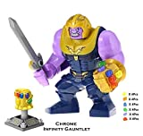 Thanos with Infinity Gauntlet 24 PCS Power Stones Big Size Bricks Building Blocks Kids Figure Toy
