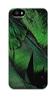 iPhone 5s Case, iPhone 5s Cases - Green Feather PC Polycarbonate Hard Case Back Cover for iPhone 5s