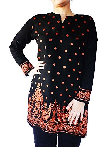 Long-Chiffon-Silk-Floral-Embroidered-Top-Kurti-Customizable