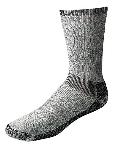 ECHOGORGE Expedition Heavy Weight Merino Wool Hiking Socks Made in USA (X-Large, Charcoal)