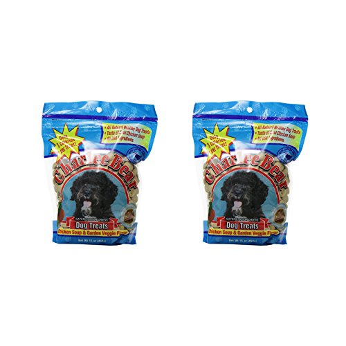 Charlee Bear Dog Treats Chicken Soup & Garden Veggie Flavor (2 Pack) 16 oz Each ()