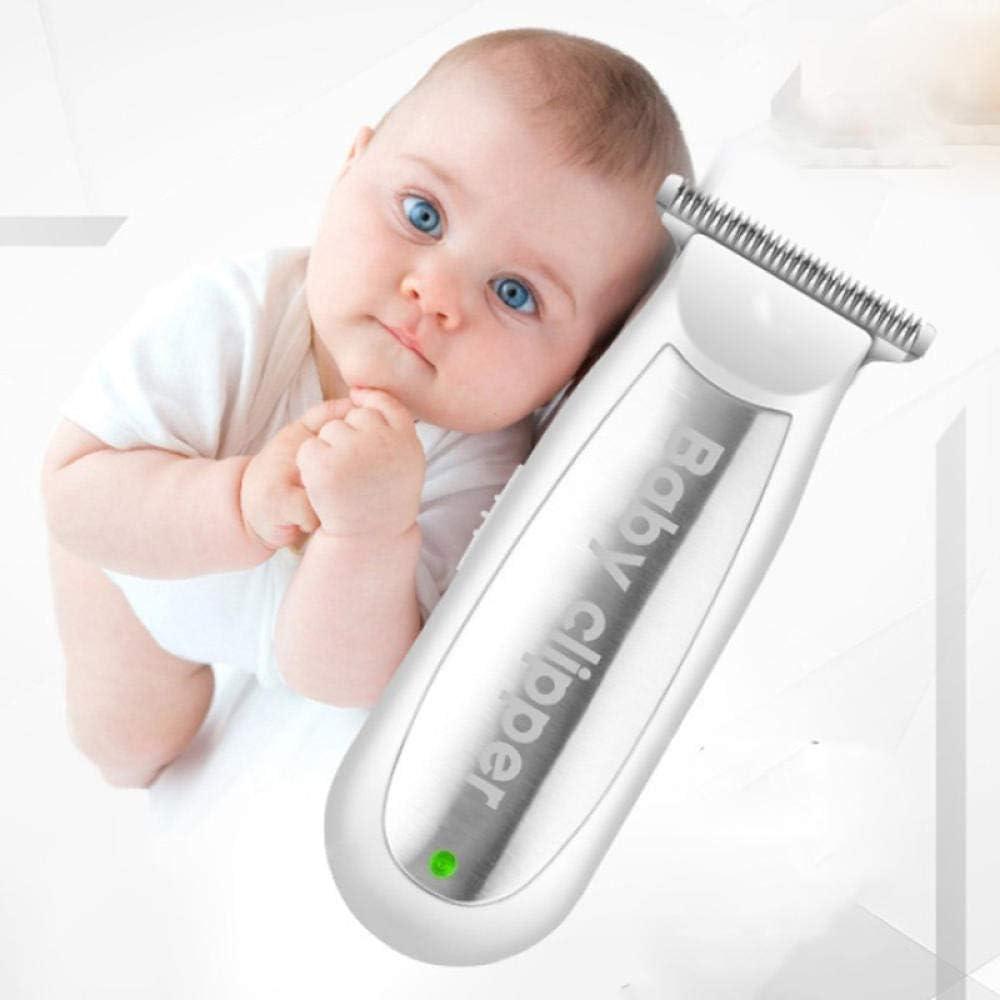 Mini cortapelos eléctrico para bebés, cortapelos recargable USB para bebés, afeitadora silenciosa para adultos, adultos, niños, corte de pelo, maquinilla de afeitar, blanco