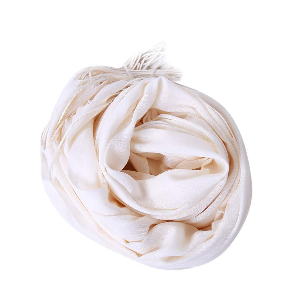 Toaimy Scarves Fashion Ladies Autumn Solid Tassel Soft Shawl Wrap Wraps Scarf Scarves