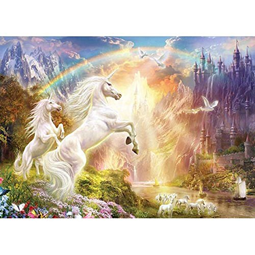 MasterPieces Glitter Rainbow River Jigsaw Puzzle, Art by Jan Patrick, 500-Piece