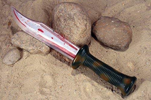 (Fun World Unisex-Adult's Bloody Survival Knife Halloween Costume, Multi,)
