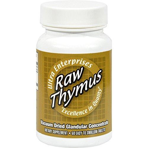 Ultra Glandulars Ultra Raw Thymus 200Mg - 60 Tablets by Ultra Glandulars