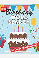 Birthday Word Search: Large Print Puzzle Book That Makes a Great Gift (Chocolate Cake with Candles Cover) Paperback