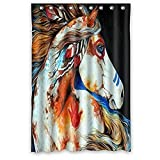 Cheap Custom Special Design Native American Indians Horse Window Blackout Curtain / Drape / Panels / Treatment Door Curtain 52×63 Inch by Hot Curtain