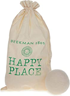 product image for Beekman 1802 Happy Place Set of 6 Wool Dryer Balls with Storage Bag