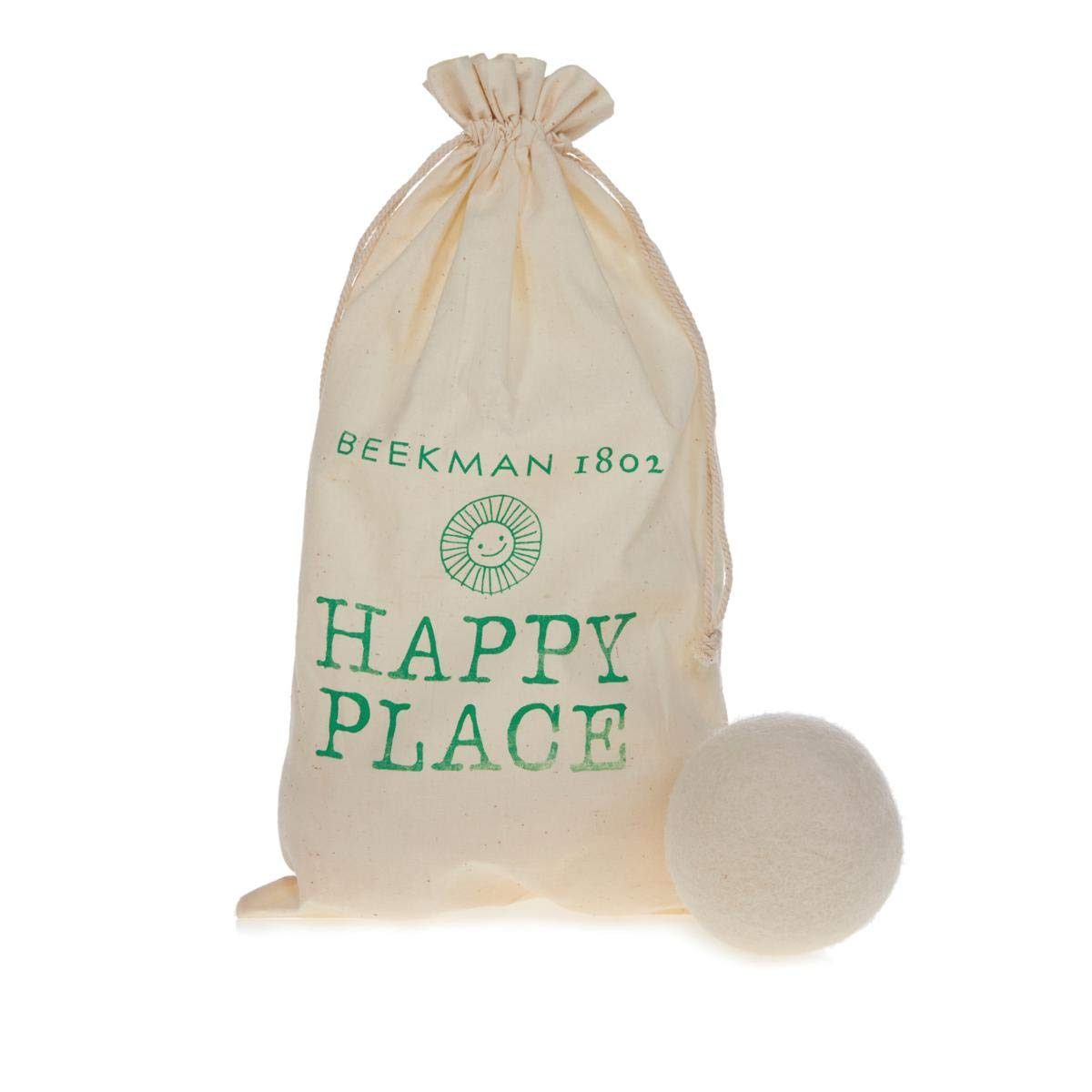 Beekman 1802 Happy Place Set of 6 Wool Dryer Balls with Storage Bag
