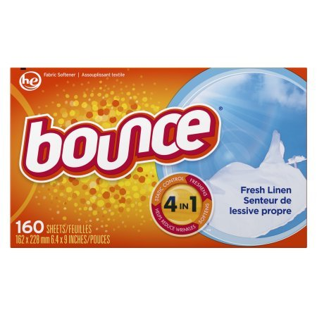 Bounce Fabric Softener Dryer Sheets, Fresh Linen, 160 Count - 2 Pack