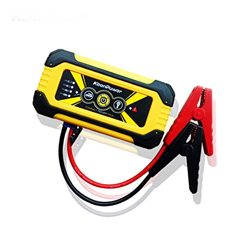 Price comparison product image Keenpower 600A 12000mAh Portable Car Jump Starter,  Emergency Battery Booster Pack with USB Charging Outputs,  LED Flashlight (Black / Red / Yellow) (YELLOW)