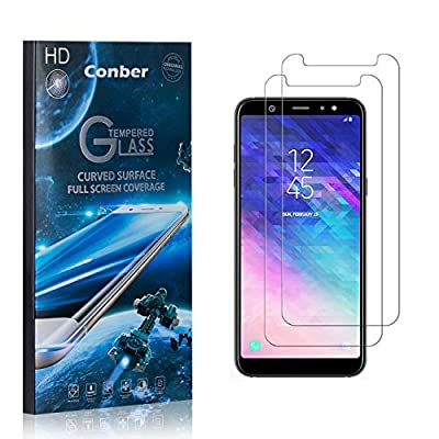 Conber (2 Pack) Screen Protector for Samsung Galaxy A6 Plus, [Scratch-Resistant][Anti-Shatter][Case Friendly] Premium Tempered Glass Screen Protector for Samsung Galaxy A6 Plus: Baby