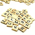 Set Of 400 Wooden Scrabble Tiles Letters For Board Games  Wall Decor & Arts And Craftsの商品画像