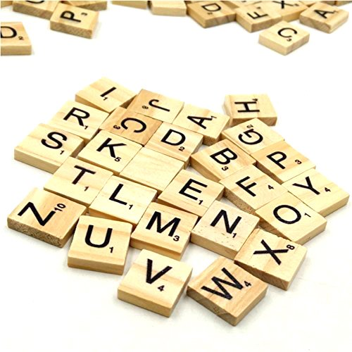 Trimming Shop Set Of 1000 Wooden Scrabble Tiles Letters For Board Games, Wall Decor & Arts And Crafts by Trimming Shop