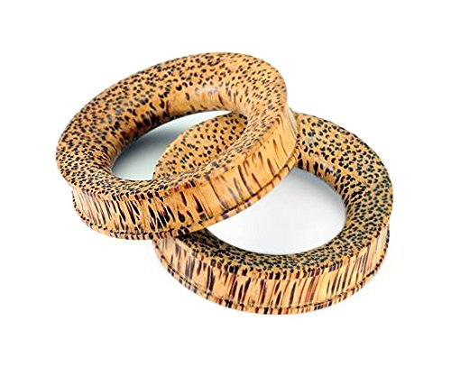 Coconut Wood Tunnel - Organic Body Jewelry 5mm up to 51mm - Price Per 1-24mm ~ 15/16
