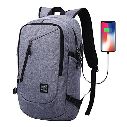 Laptop Backpack Business Computer Bag Travel School Waterproof Backpack for Men Women Fits Under 15.6 inch Laptop with USB Charging Port (30L)