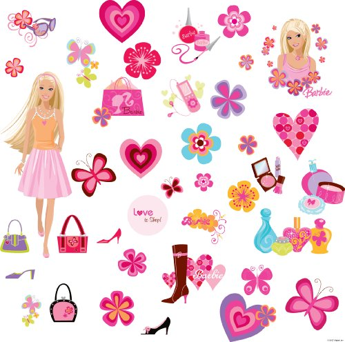 Barbie stickers for walls images for Barbie wall mural