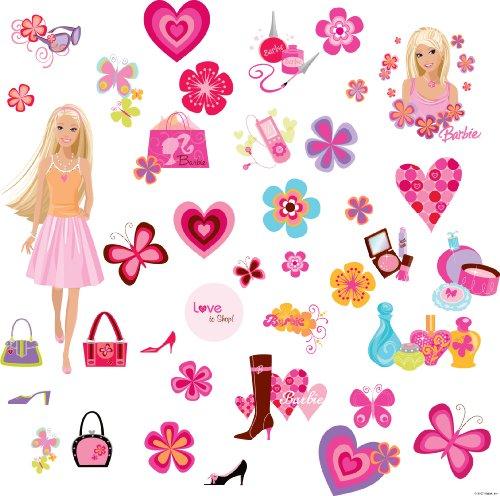 RoomMates RMK1158SCS Barbie Deco Peel & Stick Wall Decals: Amazon.co ...