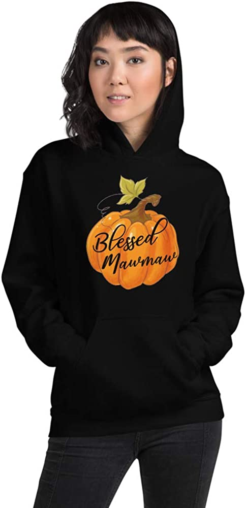 Blessed Mawmaw Thanksgiving Gift Pumpkin Funny Unisex Hoodie