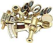 RII Pocket Sextant, Nautical Navy Sailors Brass, Celestial Navigation with Movable Telescope, Determine Latitu