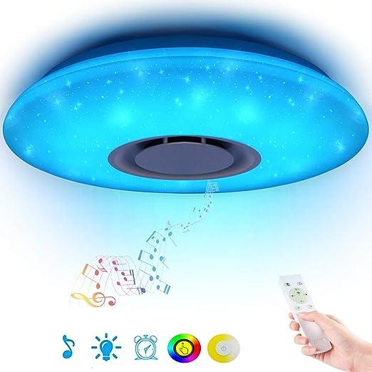 Dimmbar bluetooth Lautsprecher LED Sternenhimmel Deckenleuchte Lampe APP