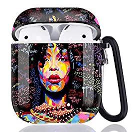 African American Women Airpods Case Cover,Flexible Airpods Accessories Compatible with Apple Airpods 1st/2nd,Shockproof…