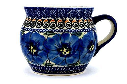 Polish Pottery Bubble Mug 16 oz Regal Bouquet UNIKAT ()