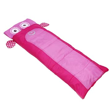 ... Portable Lightweight Childrens Warm Sleep Bed Outdoor Camping Hiking Travel Cotton Childrens Cute Sleeping Bag (Color : A) : Sports & Outdoors