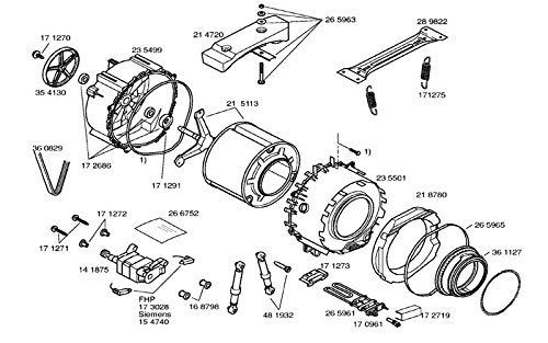 Siemens - Tambor completo con croisillion 215113 - 00773699 ...