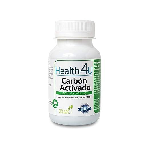 H4U - H4U Carbón Activado 90 cápsulas de 550 mg: Amazon.es: Salud y cuidado personal