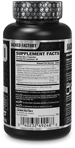 BUILD-XT Muscle Builder - Daily Muscle Building Supplement for Muscle Growth and Strength | Featuring Powerful Ingredients Peak02 & elevATP - 60 Veggie Pills by Jacked Factory (Image #1)