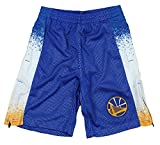 Golden State Warriors NBA Big Boys Youth Retro Pop Athletic Shorts, Blue