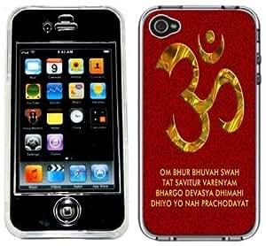 Aum OM Symbol Handmade iPhone 4 4S Black Case