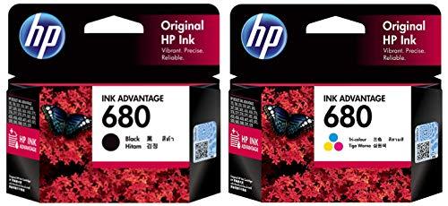 HP 680 Ink Cartridges Combo Pack  1 Black+ 1 tri Color Cartridge