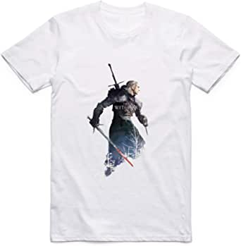 White The Witcher T-Shirt For Men - size 4XL