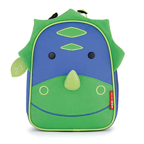 - Skip Hop Zoo Kids Insulated Lunch Box, Dakota Dinosaur, Green