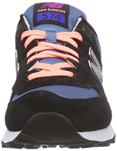 New Balance WL574V1 - Zapatillas de deporte Mujer Multicolore (Black/Silver)