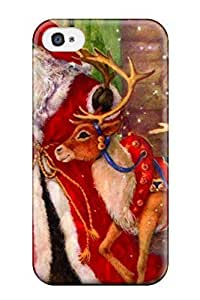 Excellent Design Attractive Free Christmas Mobile Special Phone Case For Iphone 4/4s Premium Tpu Case