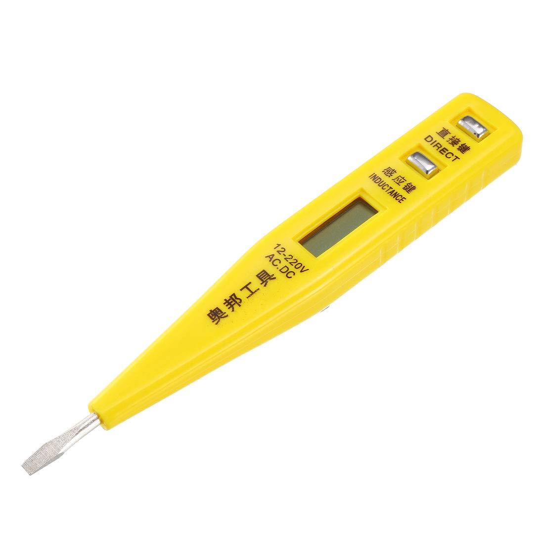 uxcell Car AC 110V Plastic Handle Voltage Detector Electric Screwdriver Tester Orange