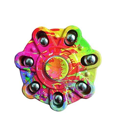 STRESS SPINNER Colorful Camo EDC Tri Fidget Finger Gyro Desk Toys Stocking Stuffer for Killing Time