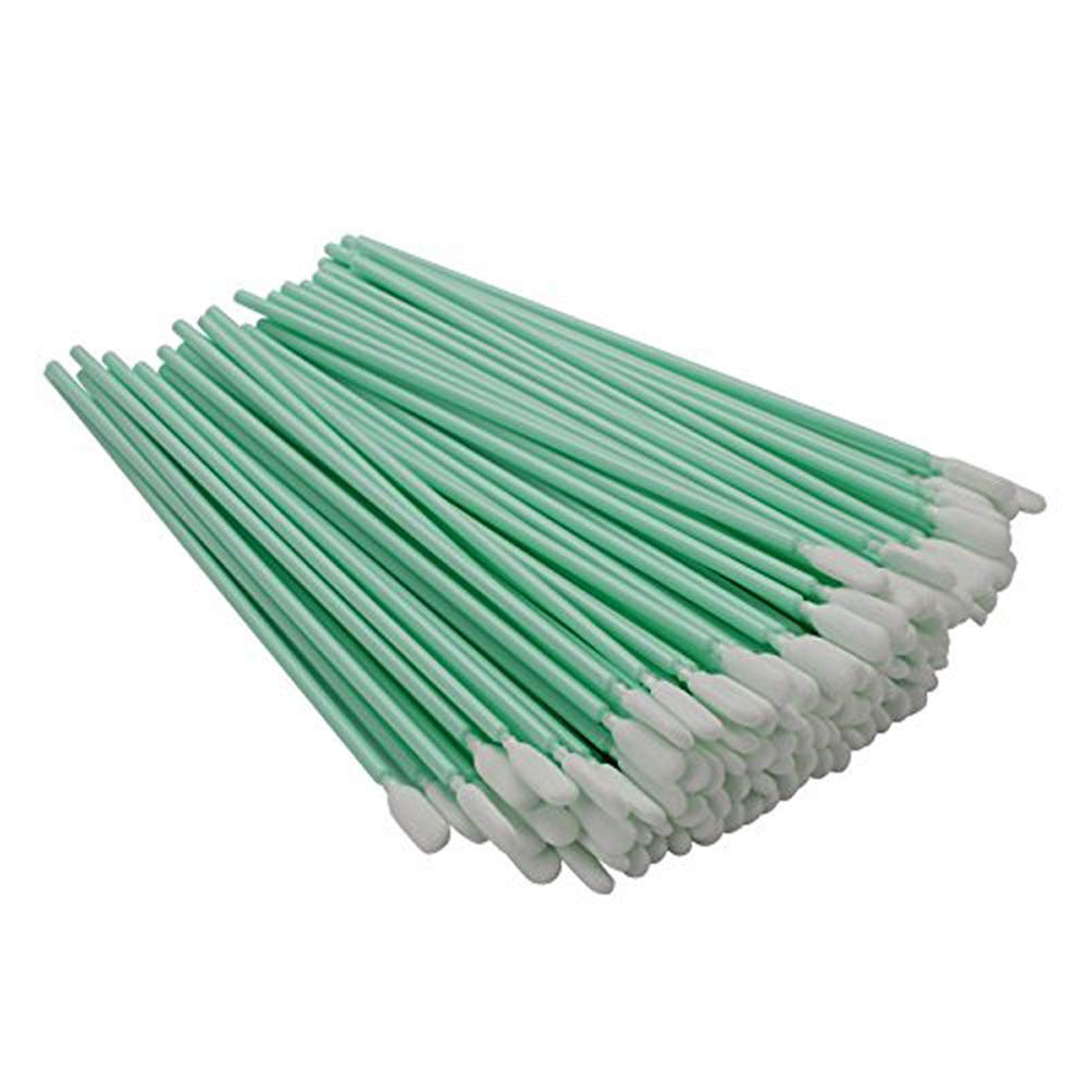 100pc 6.3'' Double Layer Polyester Cleaning Swab Sticks for Solvent Format Inkjet Printer Roland Optical Equipment