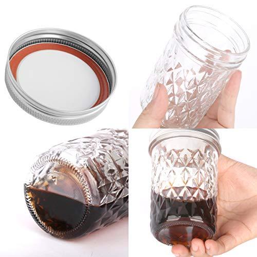 Mason Jars 8OZ, VERONES 8 OZ Canning Jars Jelly Jars With Regular Lids and Bands, Ideal for Jam, Honey, Wedding Favors, Shower Favors, Baby Foods, 30 PACK by VERONES (Image #5)