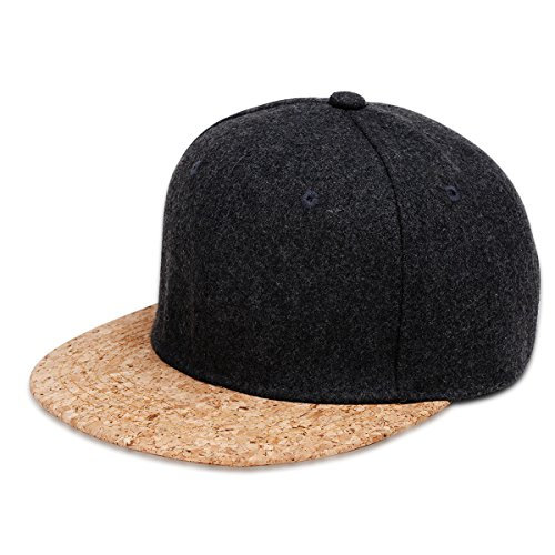 Tinian Men's Polo Style Adjustable Cotton Baseball Cap with Suede Bill Black Brown - Suede Cap Black Belt