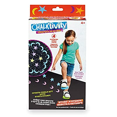 Chalktivity – Creativity in Action – Stomper Stamps with 4 Powdered Chalk Packs: Toys & Games