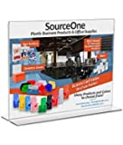 Source One 11 x 8.5 Inches Sign Holder Upright Clear Acrylic Display Ad Frame (S1-Landscape)