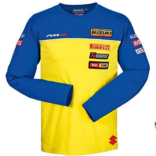 SUZUKI MXGP Team langarm Shirt long sleeve blau gelb